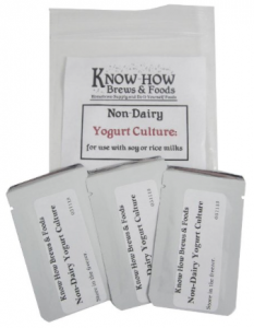 Non-Dairy Yogurt Culture (3 Packets) - For Use with Soy or Rice Milks