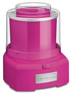 Cuisinart ICE-21PKSLT Frozen Yogurt-Ice Cream & Sorbet Maker Raspberry Pink
