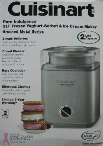 cuisinart ice 30bc sorbert ice cream maker